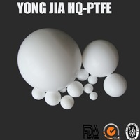Diameter 20mm PTFE Hollow Plastic Ball in White Color