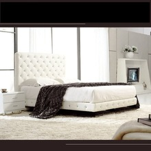 0430-A033 Best Selling Top Quality Crocodile Leather Bed Home Furniture