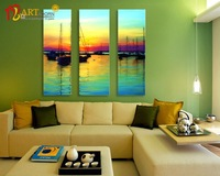 Home decoration printed modern scenery art painting