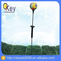 Outdoor LED Mosaic solar LED garden Stake ball light
