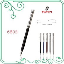 Engraved company logo ball pen with patent design 6805