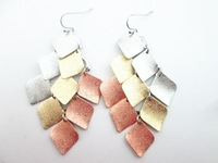 fashion middle east style sandblast metal earrings