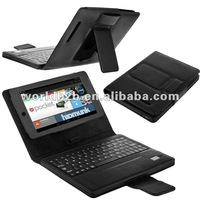 NEW arrival,leather case with detachable bluetooth keyboard for GOOGLE NEXUS 7 Android 4.1 P-GGNEXUS 7 CASE