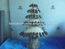 2012 new christmas brichen tree with snowing pinecone /decoration/supplier