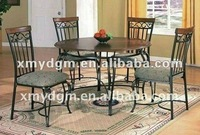 antique wrought iron dining table and chair MLdining-H19