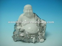 gold silver plated porcelain ceramic buddha statue for sale