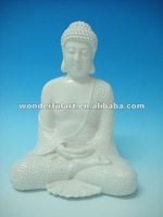 home decoration porcelain ceramic white buddha statue