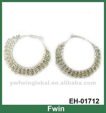 Fashion crystal seed bead earrings for women 2012