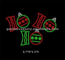 Sparking Christmas HO HO HO Rhinestone Transfer Design For Jeans