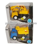 Die cast pull back truck with light and sound