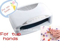 New 54w nail art printer for two hands with different colors ,CE and ROHS KT-236