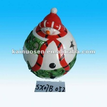 Santa clause candle ceramic christmas craft