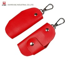 Lady's Red Leather Car Key Case