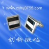 stripes cufflinks with quadrate shaped