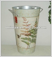 Wholesale home and garden decor zinc planters