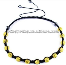 2012 new design shamballa rosary necklace BY-1155