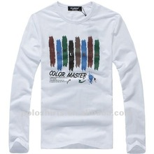 2012 latest men's long sleeve cotton t shirts for men