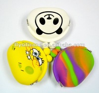 3-piece Cute mini coin purse/silicone wallet purse with FDA Certificate