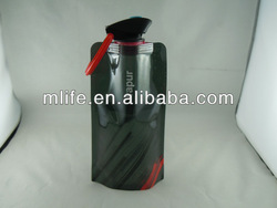 sgs approved black foldable water bottle