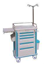 Hospital treatment nursing trolley cart with CE/ISO9001/ISO13485