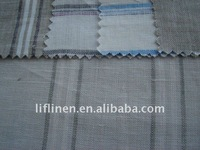 100 linen yarn dyed casual wear fabrics