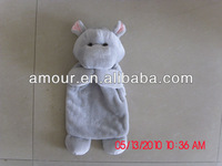 soft grey hippo puppet cute animal hand puppets for kids new cheap hot baby toys wholesale