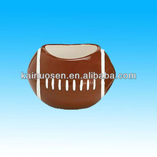 Personalized ceramic basketball shaped bowls