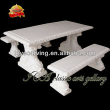 2012 hot sale white stone chairs and tables for garden home