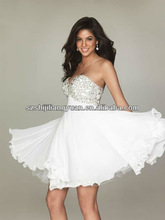 SJ1139 white Fashion Sweetheart chiffon sexy Cocktail dress