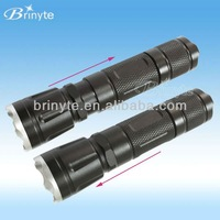 BR8046 telescoping magnetic led zoom flashlight