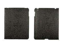 Rotating Retro Map pattern PU Leather Smart Cover Stand Case for iPad 3 and for the New iPad