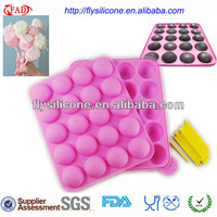 20 Holes Silicone Chocolate Decorating Tools Round Cupcake Decorating Tools Pink Color