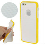 Diamond Pattern Letter BEE Text Style Anti-skidding TPU Case with Volume Button for iPhone 5