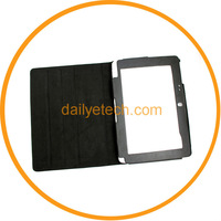 "For Acer Iconia Tab W500 10.1"" Black Leather Case stand cover from dailyetech"