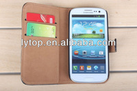 Wallet Flip Cell phone Stand Case Cover For Samsung galaxy S3 i9300 case