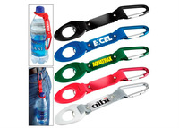 Silk Screen Polyester Printing Bottle Holder Lanyard With Reflection Band, With Carbiner