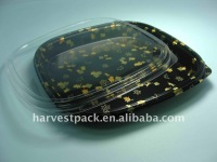 HOT! Disposable Plestic container Party Tray for Sushi Display HP-36