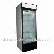 Upright freezing showcase with skin or shelf evaporator, suitable for pastry or ice cream use-1