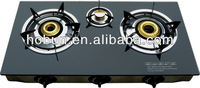 glass tabletop gas stove/gas cooker/stove/hob,indian brass burner,LPG/NG available