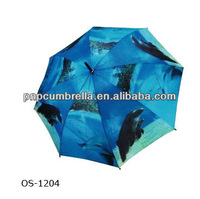 Digital Printing / Heat Transfer Printing Umbrella / dolphin