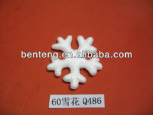 2013 hot-selling cheap foam plastic glitter snowflake ornaments