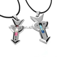 couple cross and ring necklace\cute necklace for couples