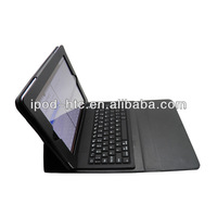 High quality PU leather case with Bluetooth silicon Keyboard for iPad 2&3