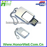 HW-UM001 mini metal usb 2.0 with key chain and free logo for promotion and gift