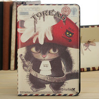 new products for Apple ipad mini cute pirate cat PU leather stand case