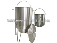 Stainless Steel stock pot with basket(outdoor)