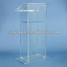 Manufacturing customized acrylic lectern acrylic church podiums
