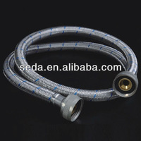 stainless steel wire braided washing machine inlet hose