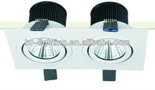 Instant start, no flashing,No UV/IR Radiation 2x6w led ceiling mounted downlight light