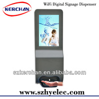 Floor stand Auto soap dispenser for shopping mall advertising